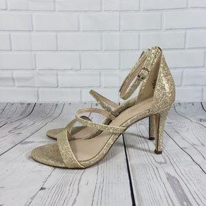 NWOB Nine West Gold Shimmer High Heels Sandals